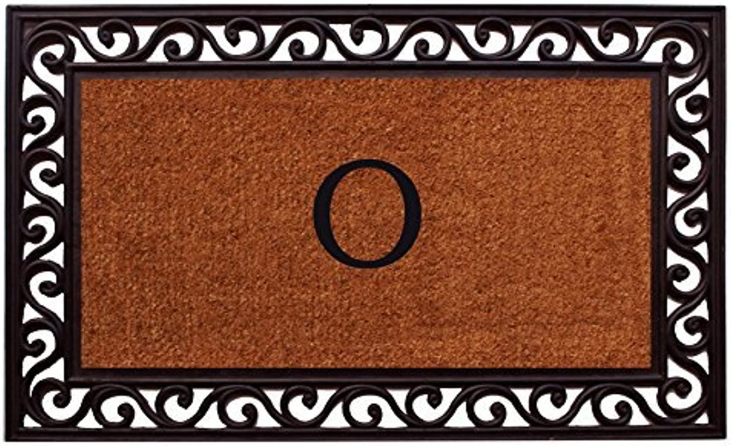 Home & More 100062236O Rembrandt Monogram Doormat 22-Inch X 36-Inch (Letter O)