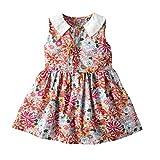 Julhold Vestido floral de la muchacha del mameluco de la ropa linda del bebé de las muchachas