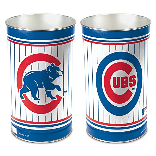 WinCraft MLB Chicago Cubs 15 Waste Basket, Team Color, One Size