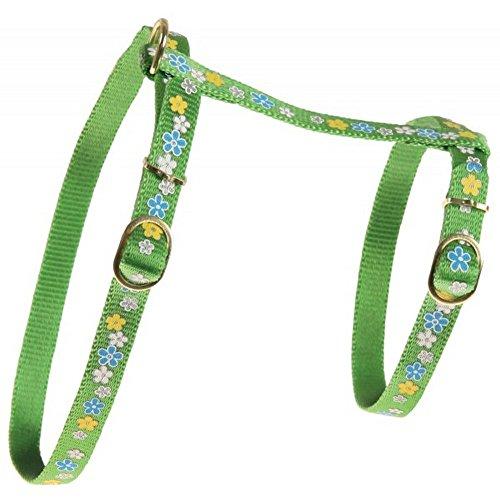 Zolux/Harnais pour chat Spring vert Dim. maxi : cou 28 cm poitrail 38 cm