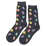 Pool Ball Dress Socks Novelty Men 8-12 Sockfly, Grey