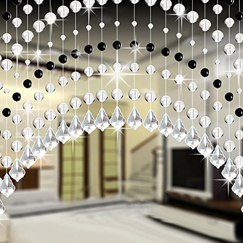 Bead  Crystal Glass Bead Curtain Luxury Living Room Bedroom Window Door Wedding Decor Home Decoration Home Decor Halloween Onsale