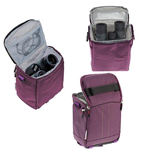Navitech Étui de Voyage binoculaire Violet pour Welltop 8x25 Binoculars 25mm