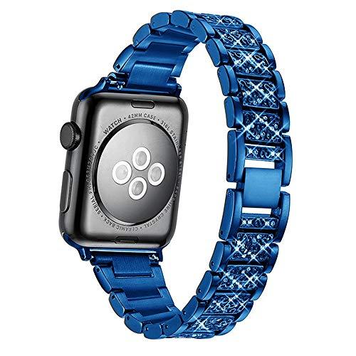 QINJIE Correa de Reloj de Acero Inoxidable Compatible con Apple Watch 1/2/3/4/5/6 Correa de Reloj de Repuesto Ligera para Hombres y Mujeres,H,40mm