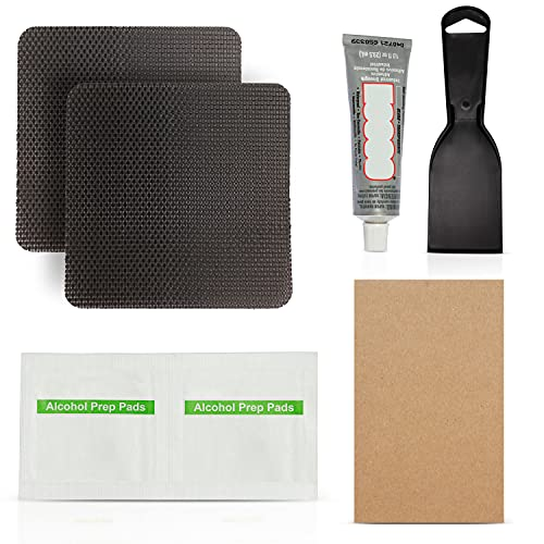 Trampoline Repair Patch Kit 4 x 4 Square Patches for Repairing Holes or tears in a Trampoline Mat (Square)