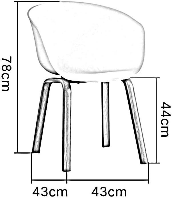 WANG Chaise de Bureau Chaise, Pied en Fer forgé à Transfert Thermique avec accoudoirs Chaise de Salle à Manger Simple Chaise de Salon/Salon (Color : Green) Black