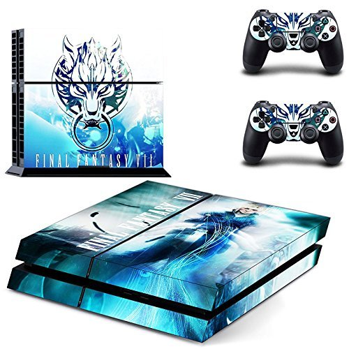Final Fantasy VII Decal Skin Sticker pegatinas for Playstation 4 PS4 Console+Controllers: Amazon.es: Electrónica