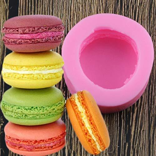 YAJIAO Molde de Silicona de Estilo 3D estéreo Macaron DIY Hecho a Mano Molde de Vela de Fondant Pastel Chocolate decoración Molde de de Silicona
