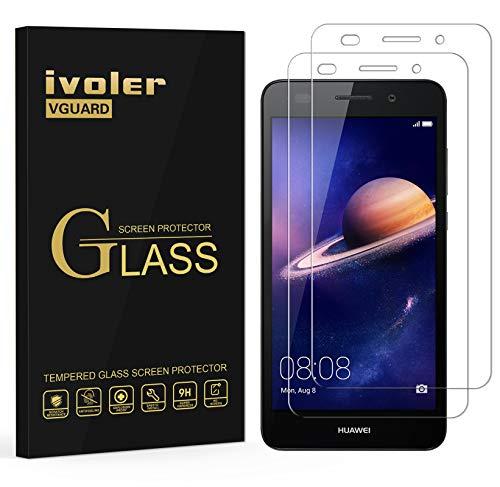iVoler [2 Pack] Pellicola Vetro Temperato per Huawei Y6 II / Y6 2, Pellicola Protettiva Protezione per Schermo per Huawei Y6 II / Y6 2
