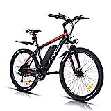 """VIVI 350W Vélo Électrique Adulte Vélo de Montagne 26"""", Batterie 36V/10.4Ah Amovible/Engrenages 21 Vitesses/Vitesse Maximum 32km/h/Convient aux Adultes"""