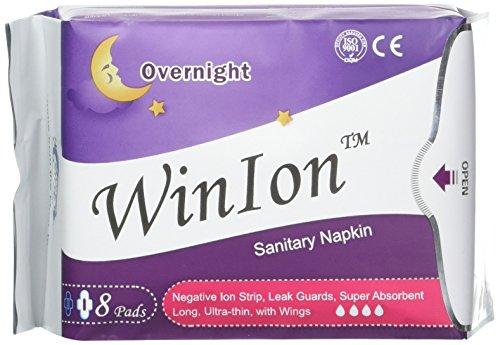 Winalite Qiray Anion Sanitary Napkin (Day, Overnight, Pantiliner) for Women Health