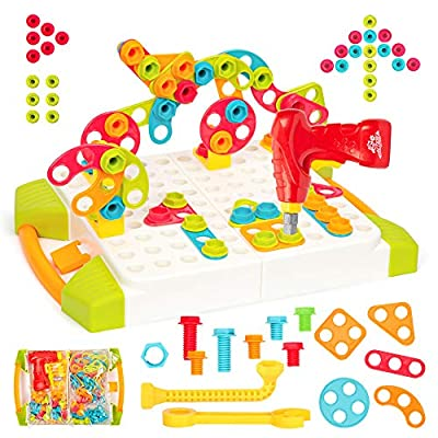 Amazon - Save 15%: Yo!Wow STEM Learning Toys – Building Block Games Set with Toy Drill and Scr…