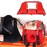 Immobilizzatore capo con cinghie, immobilizzatore per fissaggio testa impermeabile con cinghie per tavola spinale riutilizzabile per tabellone immobilizzatore di testa aiuto