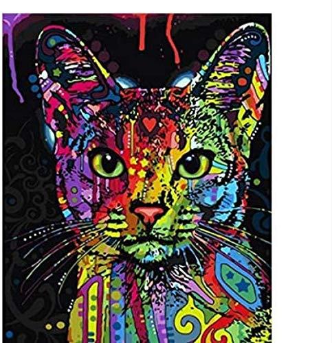 ACEYCHUANG Rompecabezas de Madera para Adultos 1000 Gatos de Colores