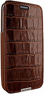 Piel Frama iMagnum Wallet Case for Samsung Galaxy S7 - Crocodile Brown