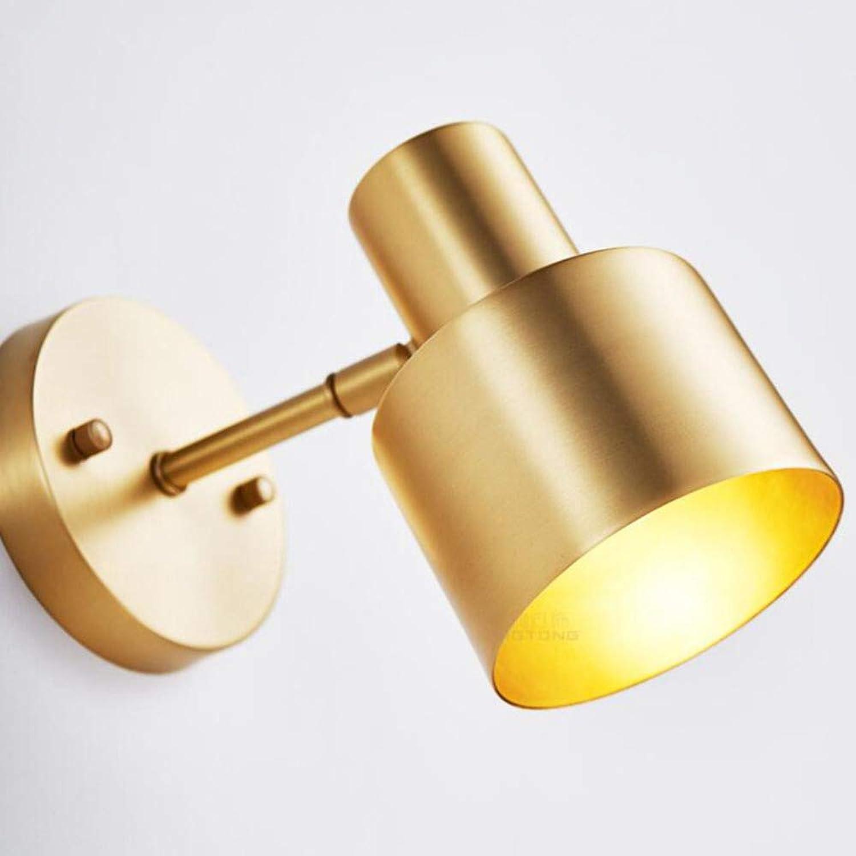 Laogg Wandleuchte LED Schlafzimmer-Nachttisch-Wandleuchte-einfaches modernes Korridor-Hotel-Goldene kreative Wandleuchte-Hintergrund-Wanddrehende Lichte 105  145  200mm