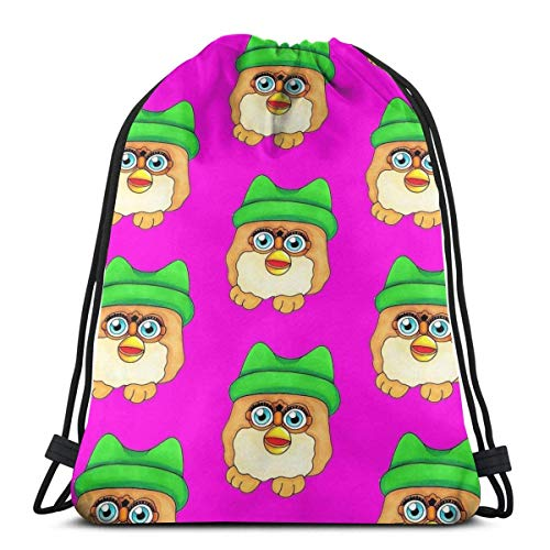 shenguang Chicken Nugget Furby Drawstring Bag Sports Ness Bag Bolsa de Viaje Bolsa de Regalo
