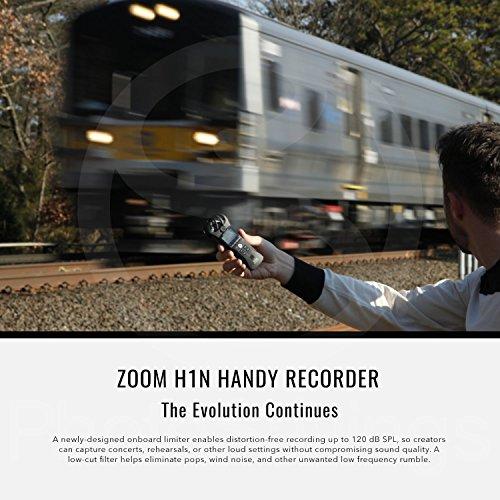Zoom H1N Digital práctico Portable grabador y 16GB Deluxe Bundle accesorios con xpix Pro Lavalier micrófono + tripode + AAA pilas + gamuza de fibertique