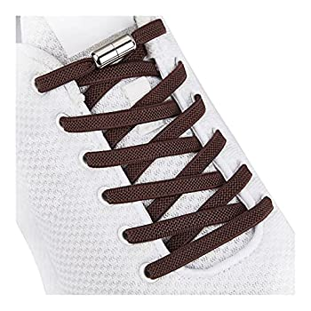 Tieless Elastic Shoe Laces No Tie Shoelaces for Kids/Adults Dark Brown