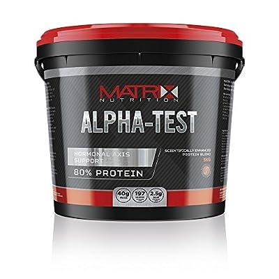 Matrix Nutrition Alpha-Test 5kg - Protein Powder - Testosterone Boost - Whey Protein Blend. (Chocolate, 2.25KG) by Matrix Nutrition