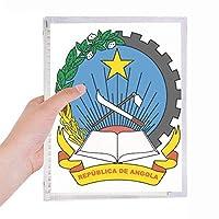 ルアンダアンゴラ国章 硬質プラスチックルーズリーフノートノート