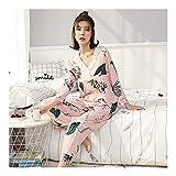 HAOLIEQUAN Women's Long Sleeve Cotton Pajama Sets Ladies 2 Piece Pajamas Comfortable Womens Cotton -