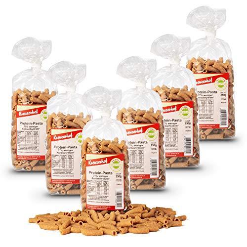 Kreuzerhof Protein-Pasta Rigatoni, vegane Nudeln im 6er Pack - Eiweiss-Nudeln (6x250g)