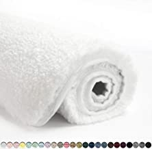 Suchtale Bath Rug for Bathroom Non Slip Bathroom Mat (20 x 32, White) Water Absorbent Soft Microfiber Shaggy Bathroom Rug ...