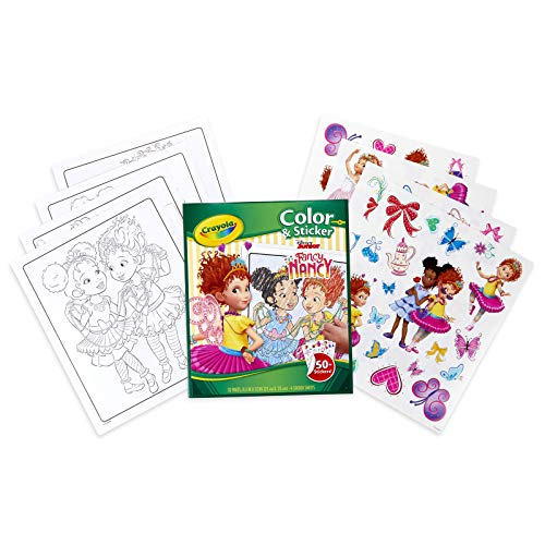 Crayola Fancy Nancy Coloring Pages & Sticker Sheets, Gift for Girls, Ages 3, 4, 5, 6, 7, Multicolor