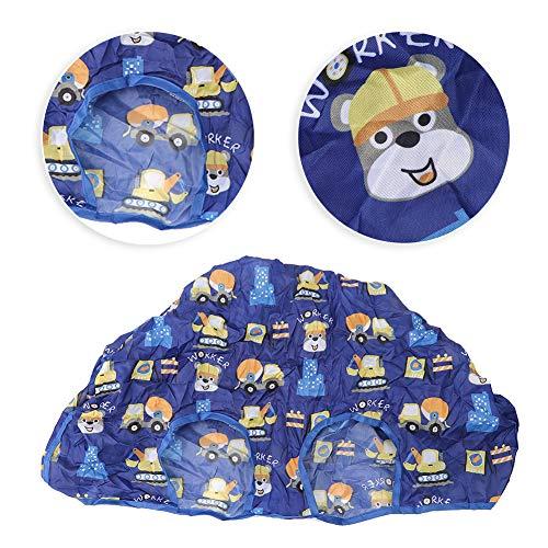 Herramientas de alimentación para bebés, cubierta duradera para silla de bebé, portátil para alimentación infantil en el supermercado(Blue series)