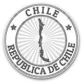 Impresionantes pegatinas de vinilo (juego de 2) 10 cm (bw) – Republica de Chile Travel Map Fun calcomanías para portátiles, tabletas, equipaje, libros de chatarra, frigorífico, regalo genial #39986