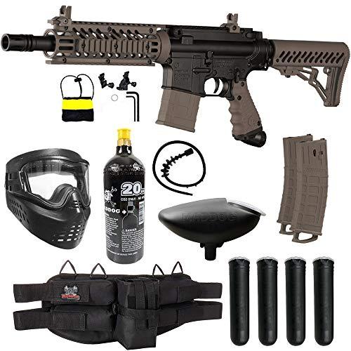 Maddog Tippmann TMC MAGFED Silver CO2 Paintball Gun Starter Package - Tan
