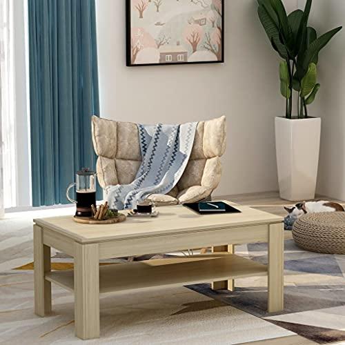 Tavolino da caffè, tavolino laterale Tavolino da cocktail Tavolino centrale Divano Tavolino Tavolino da tè Tavolino da caffè Quercia Sonoma 110x60x47 cm Truciolare