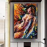 Danjiao Pintura Decorativa Desnuda De Hombre Y Mujer Besándose Pintura Abstracta Sexy Cuadros Decoracion Dormitorio Decoración Para El Hogar Acuarela Sala De Estar Decor 40x60cm