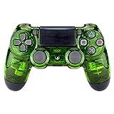 eXtremeRate Coque Avant Transparente Cristal Vert,Housse Boîtier pour Playstation 4 PS4 Slim PS4 Pro Manette Contrôleur(CUH-ZCT2...