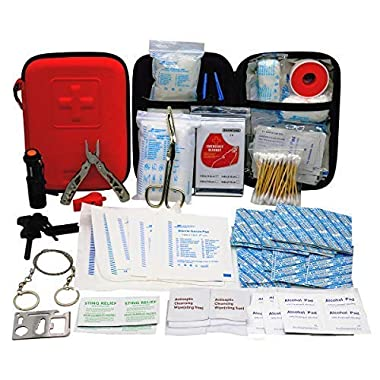 First Aid Kit Earthquake Survival Kit for Emergencies at Home Car Camping Traveling Boat Business, First Aid Kit That is Great for School, Office, Vehicle, Camping and Sports