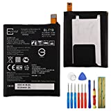 for Google Nexus 5X H791 H790 Replacement Battery BL-T19 2620mAh 3.8V Internal Battery+ Tools