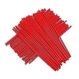 72 Piezas Rueda de Motocicleta roja Spoke Skins Llantas Cubiertas Wraps Abrigos Protector para 19'-21' Llantas Honda CR250R CR125R CRF250R CRF250X CRF450R CRF450X XR250R XR400R Dirt Pit Bike