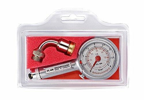 Reifendruckprüfer Reifendruckmesser 0-4 bar, mit Ablassventil, mit Fahrradadapter