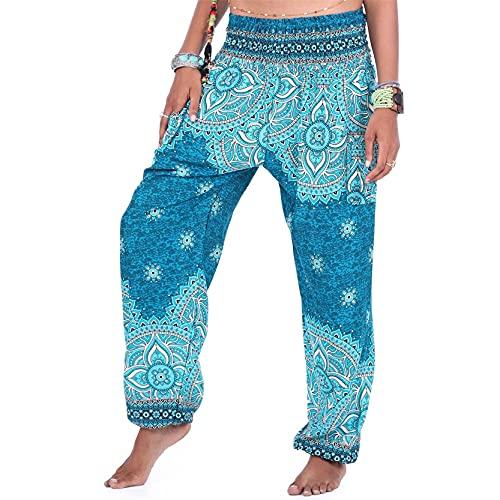 Leggins Mujer Fitness Mallas Gimnasio Pilates, Pantalones de palacio ancho cómodo de las mujeres Pantalones de Hipie Hipie Hipie Hippie con bolsillos, Pantalones de yoga bohemianos sueltos ocasionales