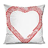 Onete Throw Pillow Cover Square 20x20 Inches Tire Tracks Heart Form Car Thread Print Signs Drive Rally Trail Love Wheel Symbols Day Abstract in Decorative Pillowcase Cushion Case Home Decor