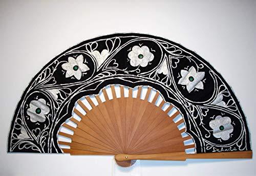 Abanico español/Abanico pintado a mano/Abanico flamenco/Abanico de ma