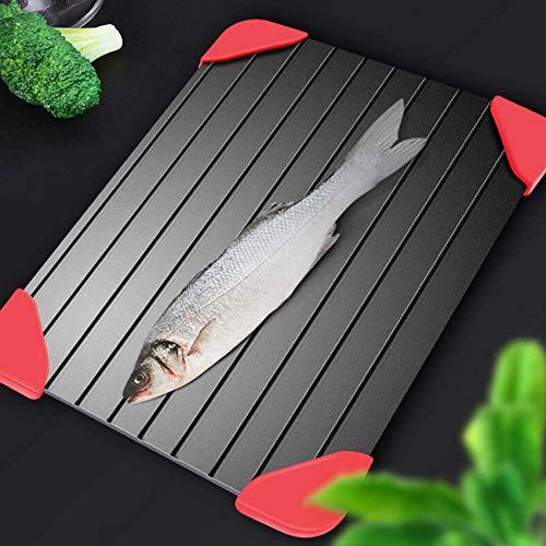 3mm Auftauteller Schnelles Auftautablett/für Fleisch und Tiefkühlkost Auftauteller Schneidebrett Küchenhelfer Werkzeug für Steak/Gefrorenes Fleisch/Brot/Gemüse/Obst/Fisch-