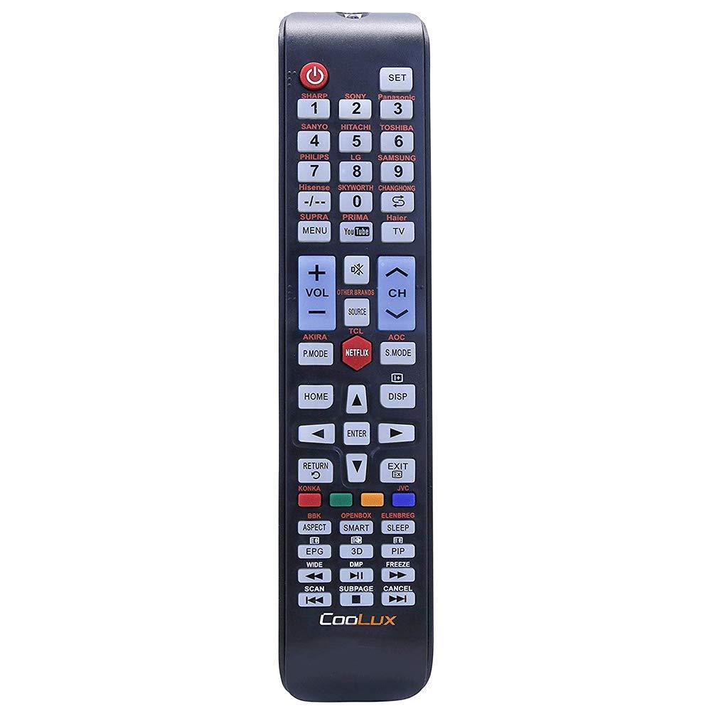 Coolux - Mando a Distancia Universal para televisores de la mayoría de Marcas con tecla Netflix: Amazon.es: Electrónica
