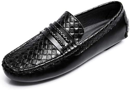 Y-H Herren Schuhe , Leder Frühjahr Herbst Komfort Fashion Loafer & Slip-Ons Erbsen Schuhe Lazy Schuhe Atmungsaktives Weißhes Fahren Schuhe Walking Schuhe Office & Karriere