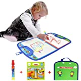 Jenilily Coolplay Water Doodle Mat Portable Travel Drawing Bag Water Drawing Mat with Pen Educational Painting Toy for Toddlers Kids