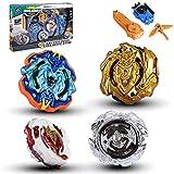 su ma Juguete peonza serie Blue Devils, Conjunto de Peonzas Juguetes con 2 Lanzador para Niños, Regalo para niños, Pascua, Navidad, regalos de cumpleaños para niños.