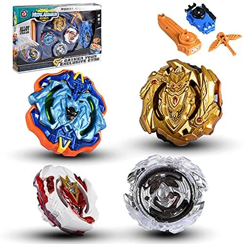 su ma Serie Blue Devils Gyro Burst Starter Trottola, Set di giocattoli top, inclusi Il giroscopico, launcher e arena, Regalo di Natale, Capodanno, Pasqua e Regali interesantes