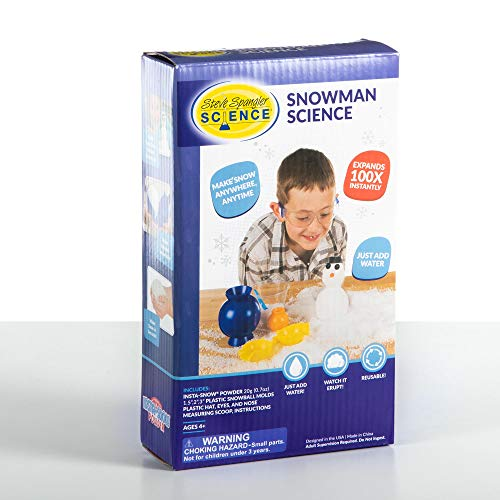 Steve Spangler Snowman Science Starter Kit – Fun Science Kit for Kids, Simple and Safe – Makes Realistic, Fluffy Snow in Seconds, Fun STEM Activities for Classroom and Home Learning