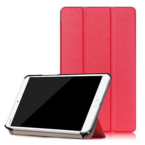 Kepuch Custer Hülle für Huawei MediaPad M3 8.4,Smart PU-Leder Hüllen Schutzhülle Tasche Hülle Cover für Huawei MediaPad M3 8.4 - Rot